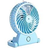 小型扇風機 卓上/USB扇風機 ミニファン 多機能 加湿器 5枚羽根 強力冷風 ポータブル ファン加湿器 静音 風量2段階調節 温度を下げる 部屋/オフィス/旅行/運動用など