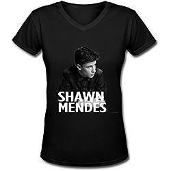 Shawn Mendes World Tour 2016 Logo Women's V Neck Tee Shirt