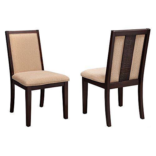 Side Chair in Espresso Finish - Set of 2