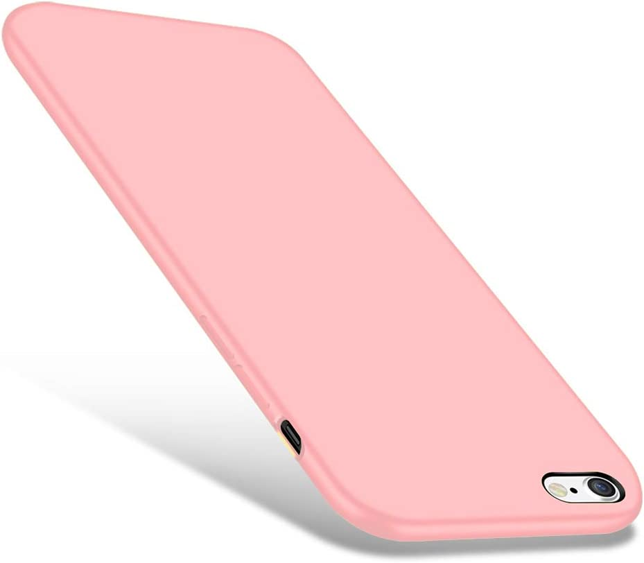 CellEver Compatible iPhone 6 / 6s Case, Liquid Silicone Guard Rubber Shock Absorbing Cover with Soft Microfiber Cloth Cushion Designed for iPhone 6 / 6S (Pink)