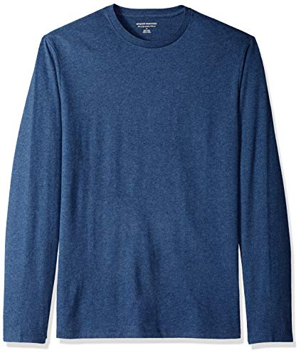 Amazon Essentials Men's Slim-Fit Long-Sleeve T-Shirt, Blue Heather, Small