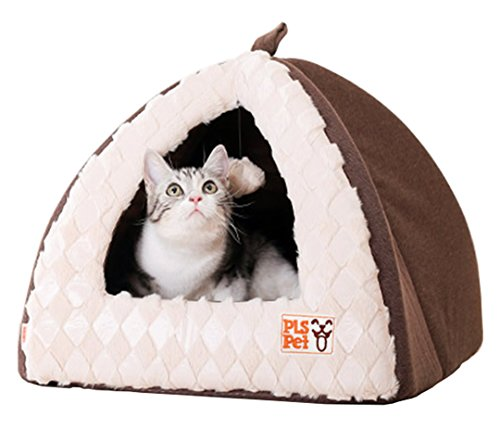 [NEW] PLS BIRDSONG Pet Tent Velvet Cuddle Bed, Small, Soft Dog House, Dog Cave, Cat Cave, Dog Bed, Cat Bed, Dog Beds for Small Dogs, (Pet Velvet Bed)