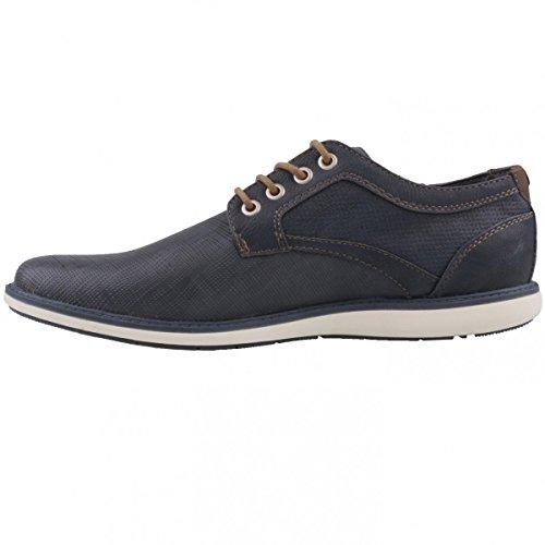 Mustang - Zapatos de cordones de Material Sintético para hombre azul Azul (Dunkelblau 800)