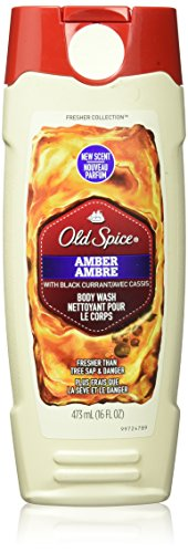 Old Spice Body Wash - Fresher Collection - Amber - Fresher Than Tree Sap & Danger - Net Wt. 16 FL OZ (473 mL) Each - Pack of 2