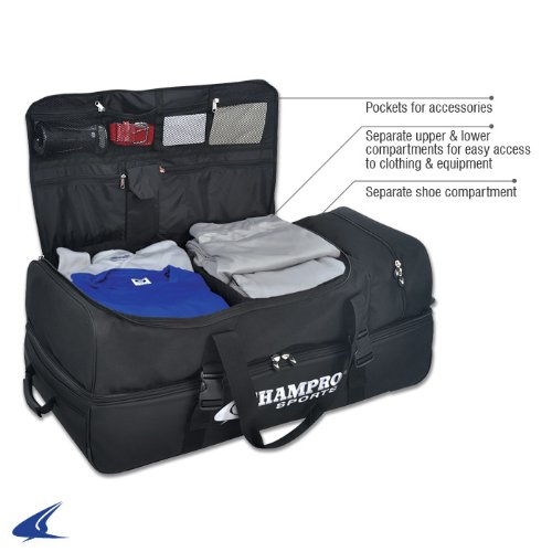 CHAMPRO Sports Ultimate Catcher / Umpire Equipment Bag w/ Detachable Mesh Laundry Bag