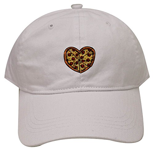 City Hunter C104 Heart Pizza Cotton Baseball Dad Cap 26 Colors (Heart Pizza)