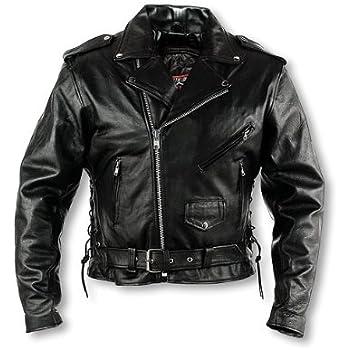 036a76edb9c3 Amazon.com  Interstate Leather Men s Classic Riding Jacket (Size 48 ...