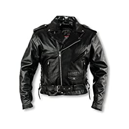 Interstate Leather Men's Classic Riding Jacket (Size 58)