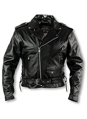 I101160T Size 60 Interstate Leather Tall Mens Classic Riding Jacket