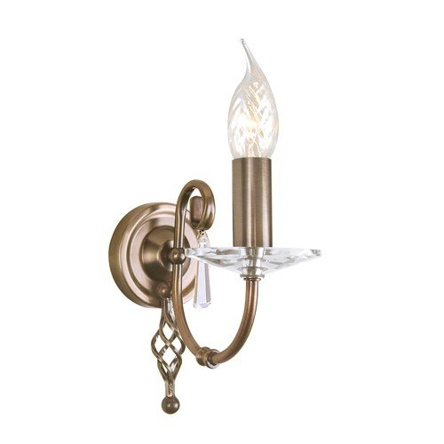 Aegean 1 Light Candle Wall Light Finish: Aged Brass Elstead Lighting AG1 AGED BRASS