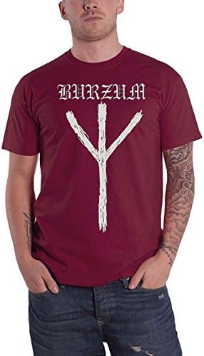 Burzum T Shirt Rune Band Logo Nue offiziell Herren Maroon
