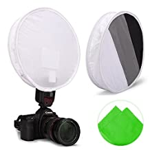 First2savvv XJPJ-FG31-01 Collapsible Softbox Light Flash Diffuser Modifier For All DSLR Camera Flash gun Gray card for Nikon Canon Speedlight SB-600, SB-800, SB-900, 380EX, 430EX, 550EX, 580EX, Vivita Flash, Sunpack, Nissin, Sigma, Sony, Pentax, Olympus, Yongnuo + Cleaning cloth