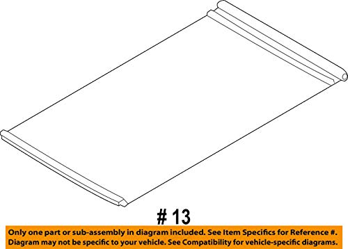 Ford BB5Z78519A02AA - Panel Assembly Sliding Roof Sunshield ()
