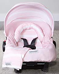 The Whole Caboodle is a complete matching set of all five Carseat CanopyTM products! Each Whole Caboodle fits most makes and models of infant car seats*. Machine washable, hang dry. 100% Cotton Outer / 100% Polyester Inner.
