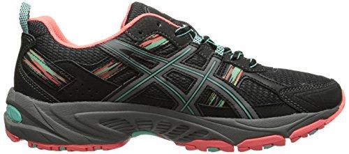 ASICS Women's Gel-venture 5 Running Shoe, Black/Aqua Mint/Flash Coral, 6 M US by ASICS (Image #7)