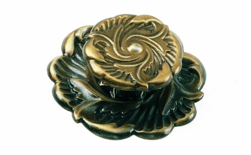 (Laurey 76605 1 1/2-Inch Classic Traditions Provincial Knob, Antique Brass)