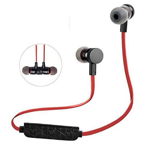 smartech wireless bluetooth sport headphones headset in ear magnetic stereo noise cancelling. Black Bedroom Furniture Sets. Home Design Ideas