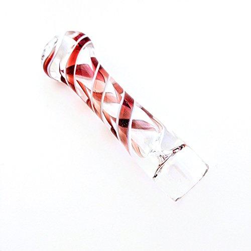 Red Swirl Glass Cigarette Holder Pipe (Hitter Pipe)