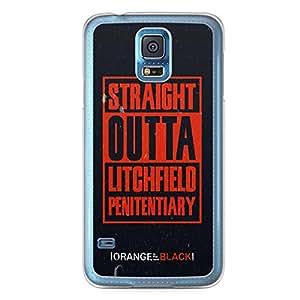 Samsung Galaxy S5 Transparent Edge Case Orange Is The New Black Straight Outta OITNB