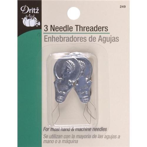 Dritz NR-812 Metal Needle Threaders - 3 Pack