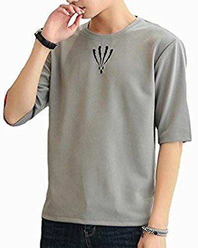 ITrustit ビッグtシャツ メンズ Tシャツ 5分袖 7分袖 カットソー ゆったり 高品質 吸汗速乾 軽い 柔らかい 無地 おしゃれ カジュアル 春 夏 夏季対応 トップス K703