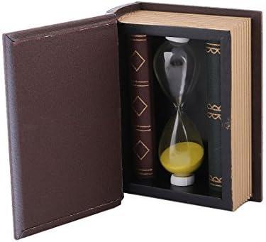 eDealMax Diseño de Madera Libro de Arena de Cristal de reloj de Arena Decoración Rosa Claro