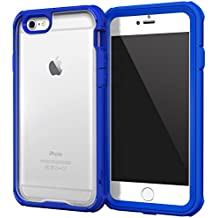 iPhone 6s Case, roocase [Glacier TOUGH] iPhone 6 (4.7) Hybrid Scratch Resistant Clear PC / TPU Armor Full Body Protection Case Cover with Built-in Screen Protector for Apple iPhone 6 / 6s (2015), Palatinate Blue