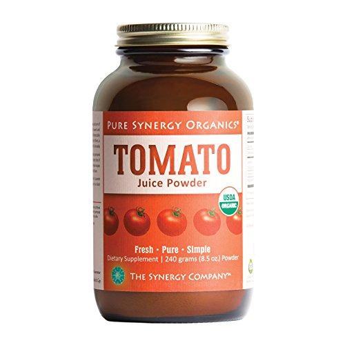 Pure Synergy USDA Organic Tomato Juice Powder (8.5 oz) w/Natural Lycopene, Non-GMO - Lycopene Tomato Juice