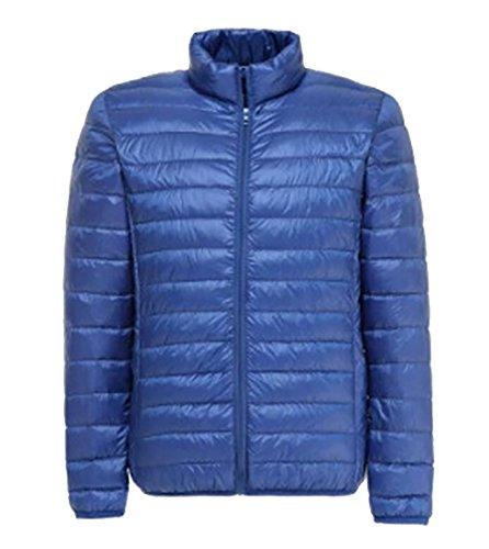 Blue Puffer MK988 Down Slim Mens Jacket Packable Collar Warm Sapphire Fit Stand PF8rqxP