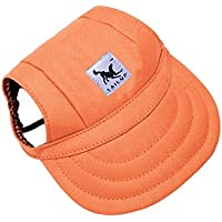 BUYITNOW Large Dog Hat, Pet Baseball Cap/Dogs Sport Hat/Visor Cap with Ear Holes and Chin Strap for Dogs 3 Sizes, 11 Colors