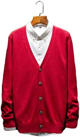 カーディガン メンズ ニット セーター コート ジャケット Vネック シンプル サイズ S~3XL カジュアル 秋 ビジネス コーディネート