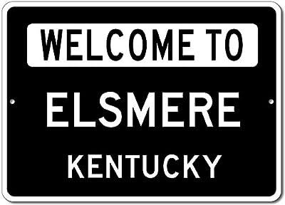 Welcome to ELSMERE, KENTUCKY - City State Custom Rectangular Aluminum Sign