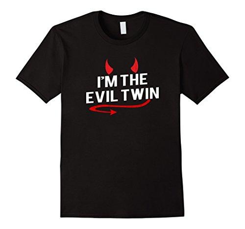 Mens I'm the Evil Twin Funny Halloween Costume T-shirt XL Black
