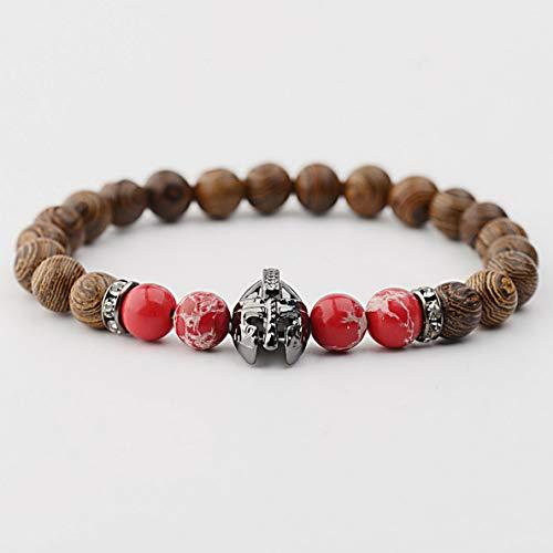 Vintage Avon Owl - Mikash 8MM Fashion Men Women Black Rock Bead Silver Owl Charm Adjustable Bracelets | Model BRCLT - 38030 |