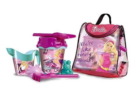 Unice Toys Set de playa con mochila, diseño Barbie, 25 x 19 x 30 cm: Amazon.es: Juguetes y juegos