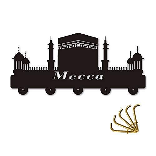 qiumeixia1 Mecca City Saudi Arabia Sacred Landscape Building Household Decor Hooks Multi-Purpose Wall Coat Keys Bags Clothes Hook
