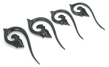 4g Elementals Organics Horn Carved Spiral Hanger Earrings Body Jewelry 10g Price Per 1