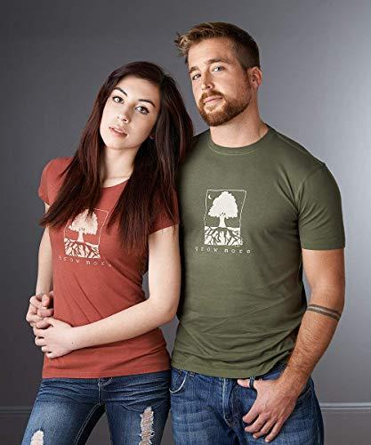 (Womens Tshirt, Eco-friendly Bamboo Organic Clothing, Tree T shirt, Gardening Tee, Environmental T-shirt, GROW MORE)