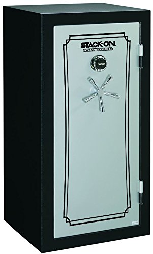 Stack-On TD14-28-SB-C-S Fire Resistant Waterproof Fully Convertible Total Defense Safe with Combination Lock, 28 Guns