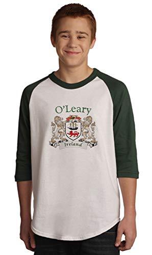 (O'Leary Irish Coat of Arms Jersey Tee 3/4 sleeve)