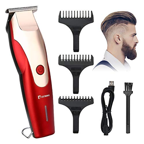 BESTBOMG Professional Mens Hair Clippers Cordless Hair Trimmer Rechargeable Hair Cut Kit & Grooming Kit Beard Trimmer For Men,Kids with Guide Combs