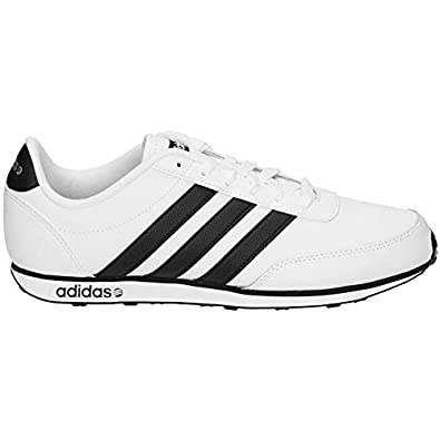 adidas Neo V Racer Leather Männer Schuhe Weiß EU 43 13 UK 9