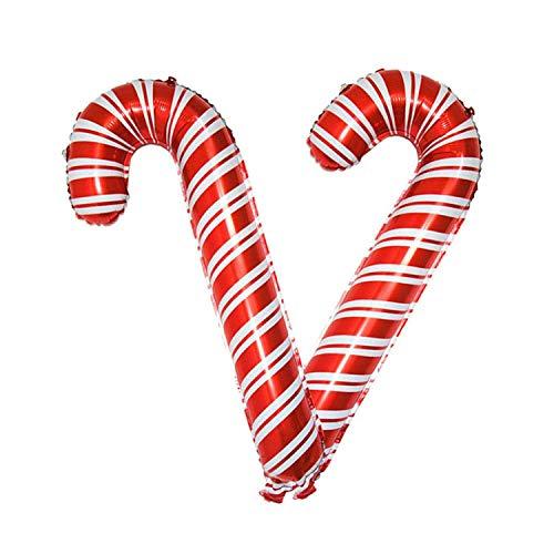 (Noon-Sunshine decorative-plaques Christmas Balloons Santa Claus Snowman Walking Stick Foil Air Balloons Kids Toys,C)