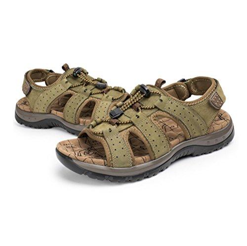 Elásticas De La Respirables Moda Playa Sandalias Hombres Ocasionales Zapatillas De Los Juventud De De La LYZGF Usables Green Zw8qUt4x4