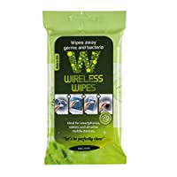 Wireless Wipes Green Tea Cucumber Cell & Portable Electronic Sanitizing Wipes, Pack of 20