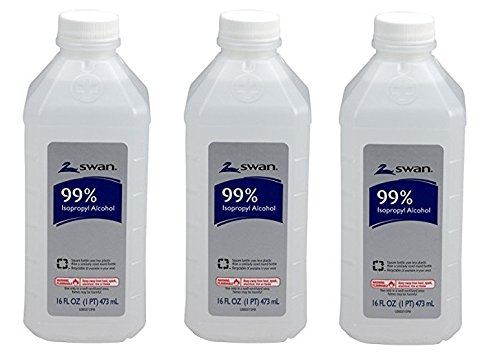 Swan Isopropyl Alcohol, 99%, Pint, Special Pack of 3Pack (16 oz *3 ) by Swan99%