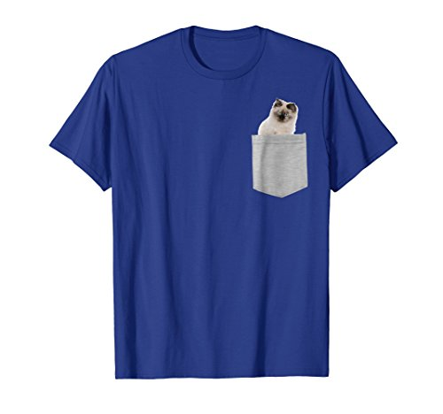 Tee Doll Rag Cat T-shirt - Ragdoll Cat In Your Pocket Shirt