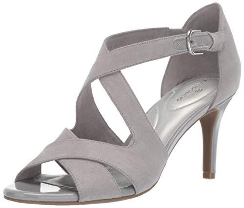 - Bandolino Footwear Women's JERIGOA Heeled Sandal, Gray, 6.5 Medium US