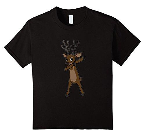 Kids Funny Elk T Shirt Christmas Gift Elk Dabbing Dab Dance 12 Black - Dancing Elk
