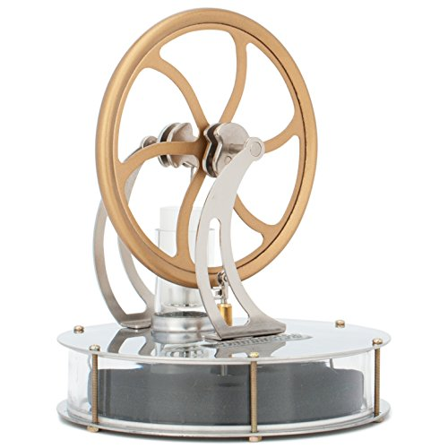 DjuiinoStar Low Temperature Stirling Engine: Rotate Hours on A Thermos, Great Coffee Cup Stirling Engine DLTD-203